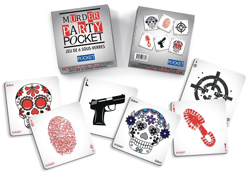 "Goodies sous-verres - "" Murder party Pocket "" - éditions Pocket - 2016"