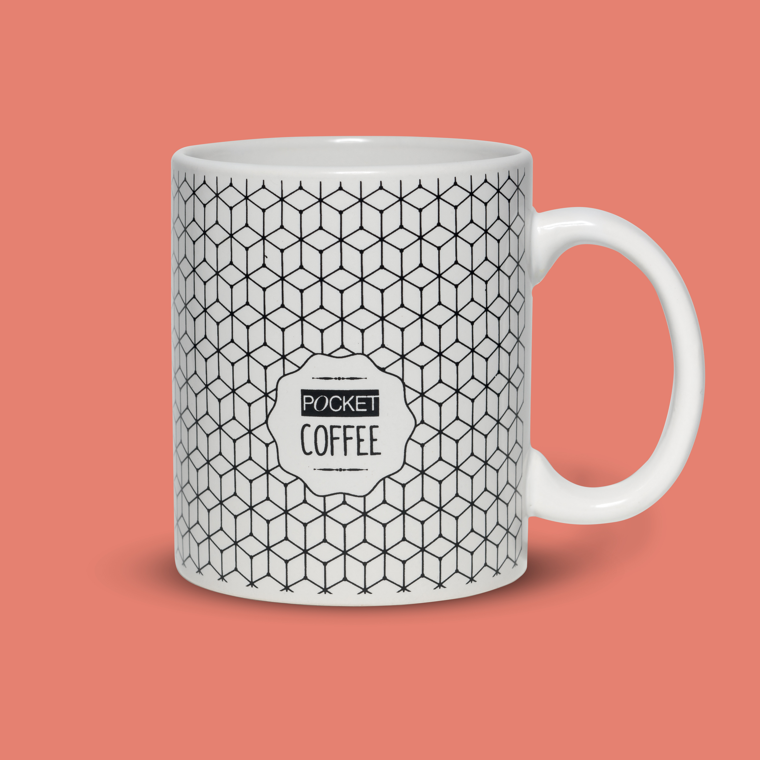 "Mug ""Pocket coffee"" offerte pour l'achat de 2 Pocket - éditions Pocket - 2016"