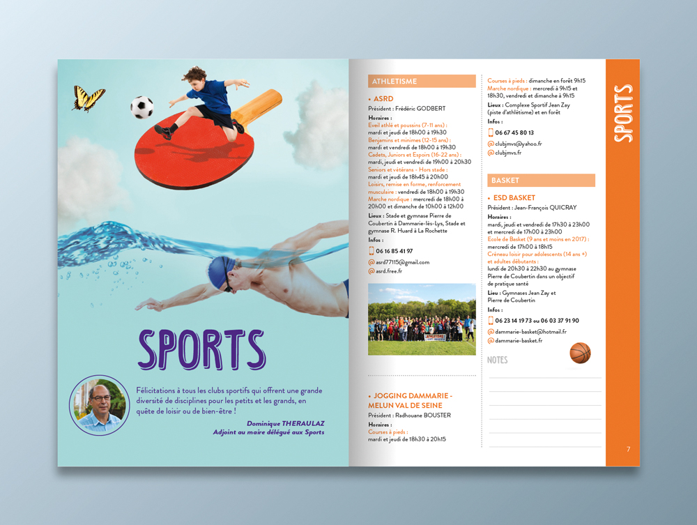Guide des associations 2016 / 2017 - Ville de Dammarie-lès-Lys - Pages sports