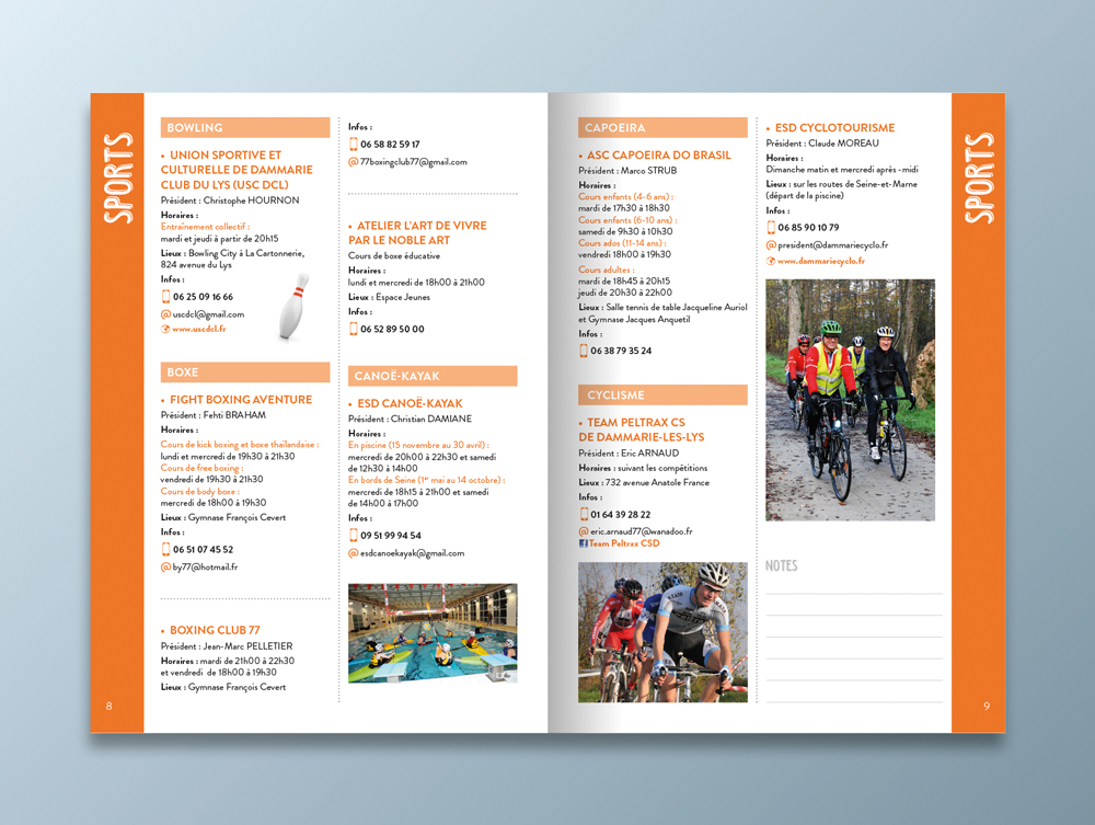 Guide des associations 2016 / 2017 - Ville de Dammarie-lès-Lys - Pages sports 2