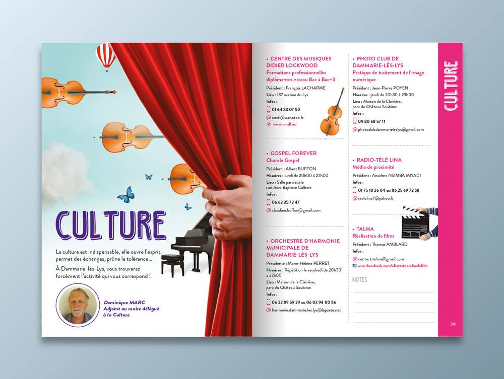 Guide des associations 2016 / 2017 - Ville de Dammarie-lès-Lys - Pages culture