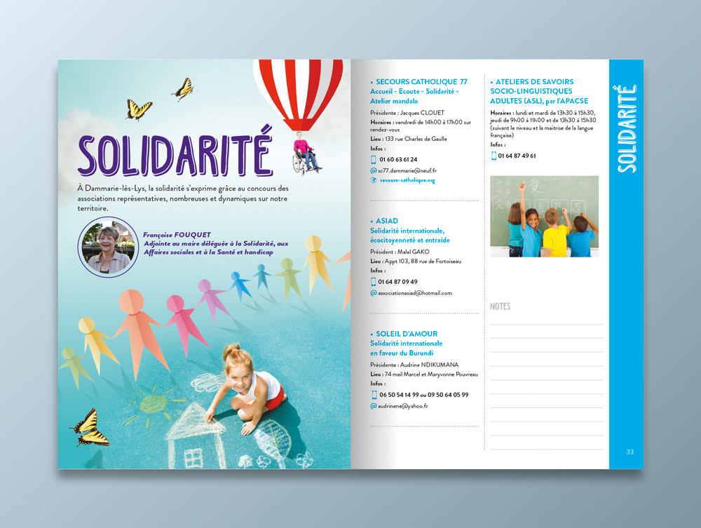 Guide des associations 2016 / 2017 - Ville de Dammarie-lès-Lys - Pages solidarité
