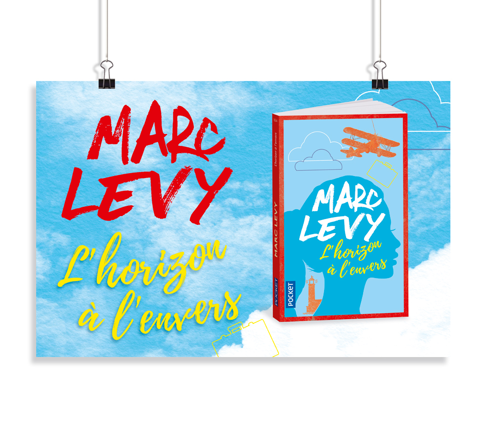 Affiche 40 x 60 cm - Marc Levy - L'horizon à l'envers - éditions Pocket - 2017