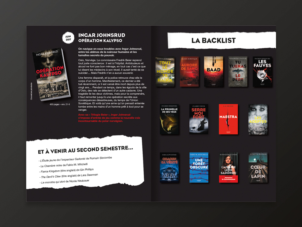 Catalogue collection La Bête Noire - page 6 et 7 - éditions Robert Laffont - 2017