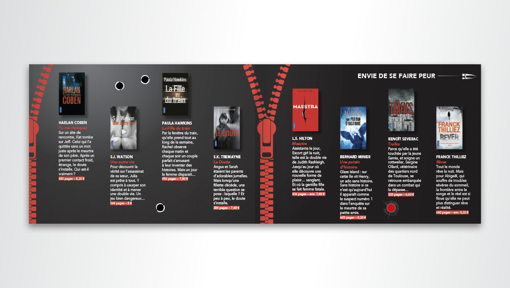 Guide de lecture été 2017 - pages romans thriller - éditions Pocket